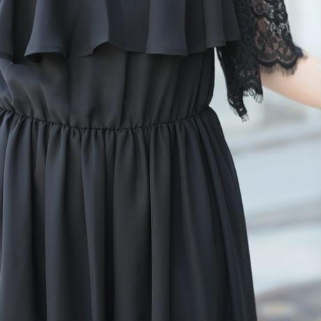 即日配送 送料無料 パーティードレス ドレス ワンピース ロングドレス レース 袖有り マキシ丈 お呼ばれドレス 結婚式  披露宴 大きいサイズ お呼ばれ プレミアムドレス emdp0001