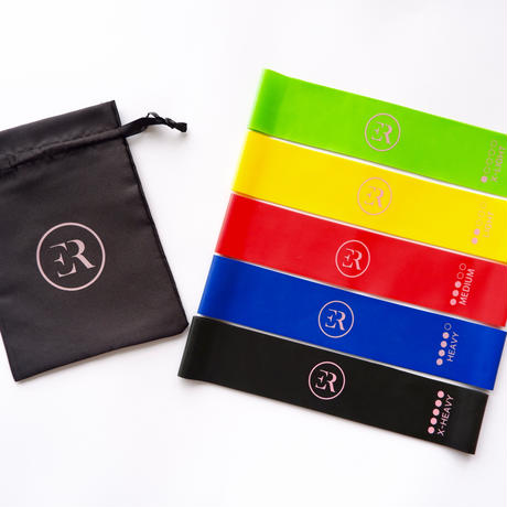 5 Resistance Bands Set  +  Free Pouch Bag  +  Free Shipping ----------  ( ¥ 1.800 + tax)