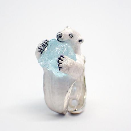 シロクマリング「今日も氷を抱えて」