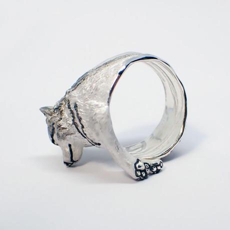 オオカミ寛ぎリング(gray)