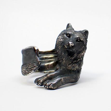 オオカミ寛ぎリング(black)