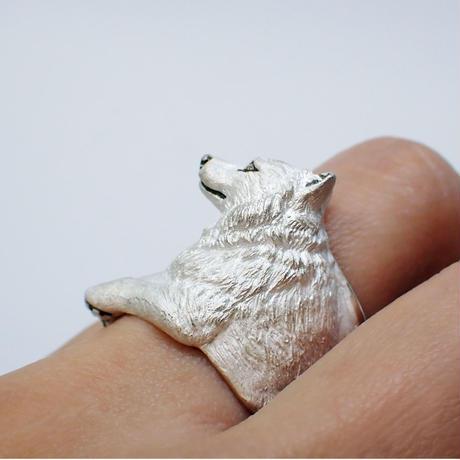 オオカミ寛ぎリング(white)