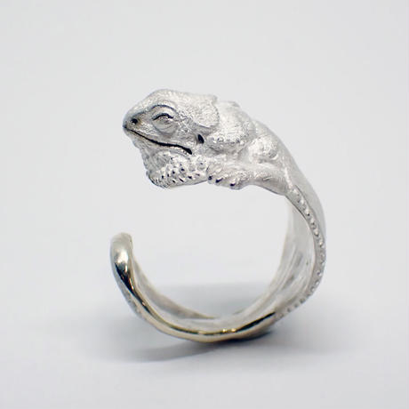 フトアゴヒゲトカゲ居眠りリング(white)