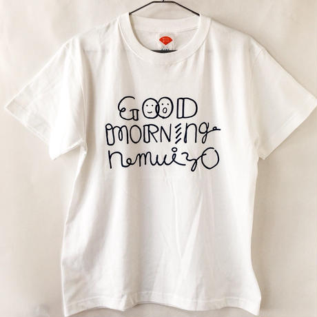 GOOD MORNING nemuiyo Tシャツ / ホワイト(NV)