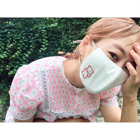 くまだよ!マスク02(茶ギンガムチェック)