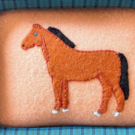 額装作品 horse