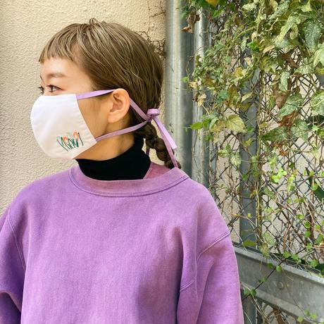 カラフルチューリップマスク02(ラベンダー花柄)