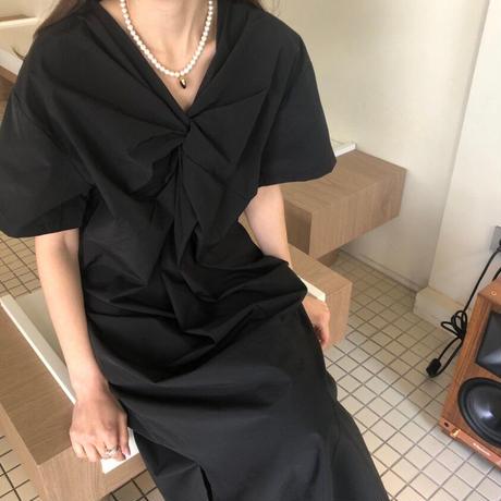 【即納あり】【op037】2wayセンターツイストワンピース(2カラー)