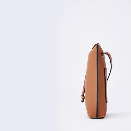 【即納あり】【bg028】リアルレザーステッチミニポケットバッグ(6カラー)