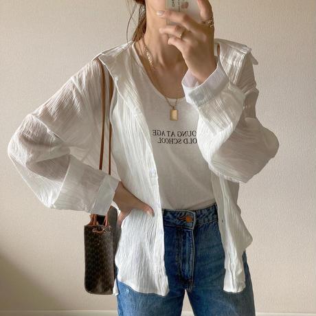 【即納あり】【shi017】楊柳マルチストライプシアーシャツ