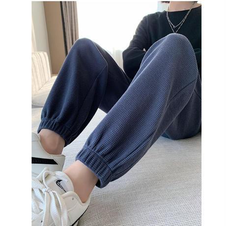 【即納あり】【R3PT02】丈が選べるワッフルスウェットジョガーパンツ(5カラー)