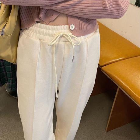 【pt015】ハイライズドロストストレートカジュアルパンツ(3カラー)