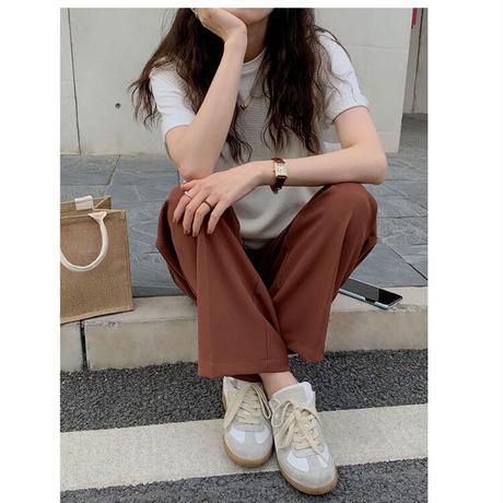 【即納あり】【pt017】ハイライズタックストレートカラーパンツ(2カラー)