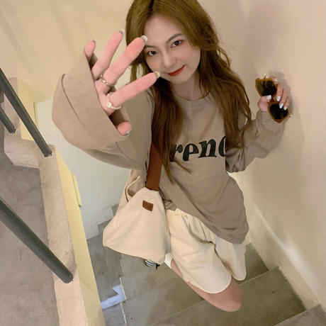 【ts010】FrenchライトロングTシャツ(2カラー)