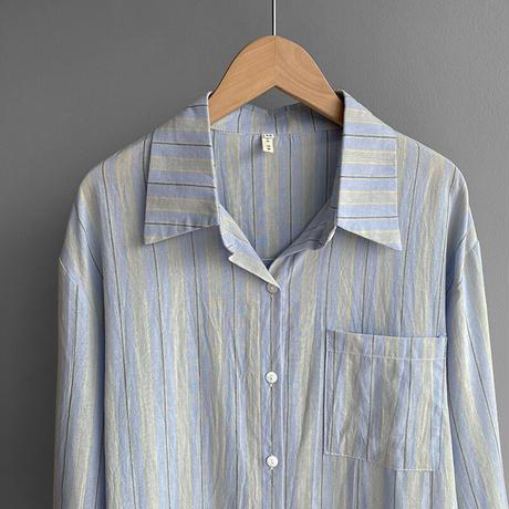 【即納あり】【R3SHI01】マルチストライプシャツ