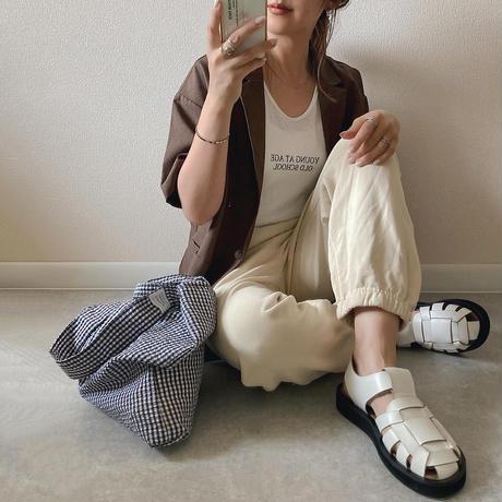 【即納あり】【cs009】ルーズスリーブレスメッセージTシャツ(5カラー)