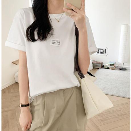 【即納あり】【ts007】ナンバーラベルTシャツ(2カラー)