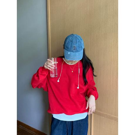 【即納あり】【R3SW01】redカラースウェットPO