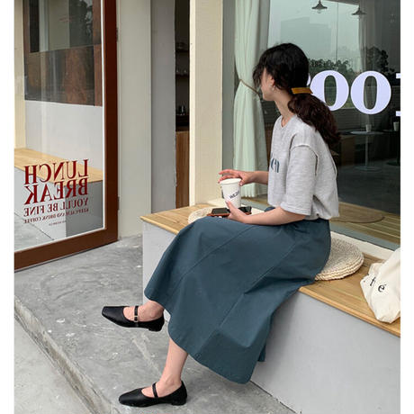 【ts006】ステッチデザインカラーTシャツ(2カラー)