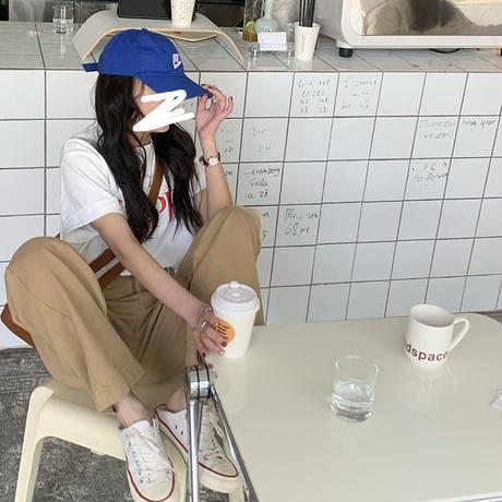 【即納あり】【pt019】ソフトデニムルーズストレートパンツ