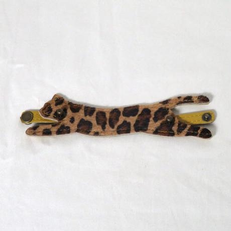 猫型マスクレザーバンド(はらこヒョウ柄)マスク紐ホルダー【送料無料】マスク紐による耳痛防止