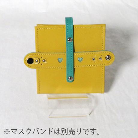 レザーマスクケース 抗菌ビニール使用 イエロー【送料無料】