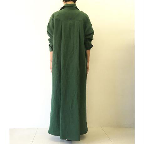 BLUEBIRD BOULEVARD Linen Shirt Dress /ブルーバード ブルバード  ヴィンテージリネンシャツドレス
