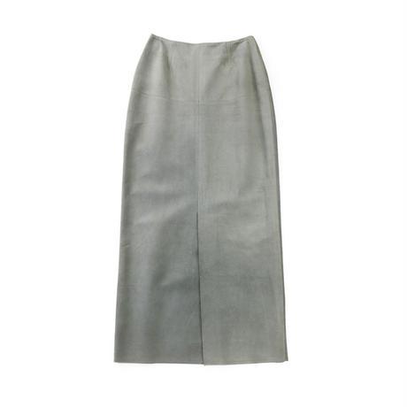 BLUEBIRD BOULEVARD Suede Leather Maxi Skirt/ブルーバード ブルバード ピッグスウェード マキシスカート CAMEL・GRAY・BLACK