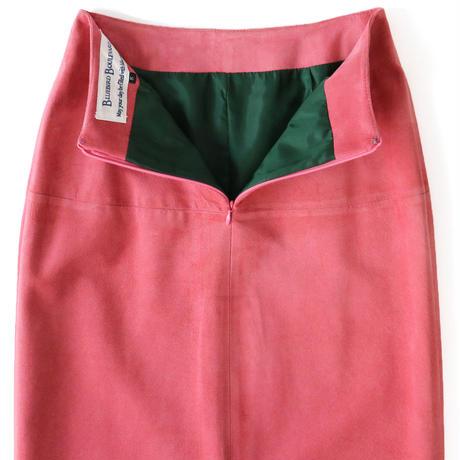 BLUEBIRD BOULEVARD Suede Leather Maxi Skirt/ブルーバード ブルバード ピッグスウェード マキシスカート / PINK