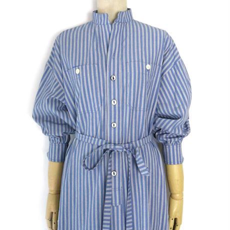 BLUEBIRD BOULEVARD Stripe Shirt Dress /ブルーバード ブルバード ストライプダブルワッシャーシャツドレス