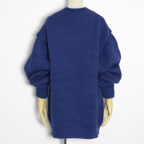 BLUEBIRD BOULEVARD Chunky Knit Long Cardigan/ブルーバード ブルバード   ローゲージソフトウールカーディガン