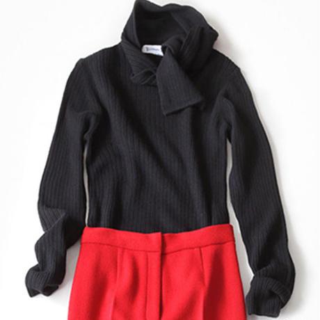 BLUEBIRD BOULEVARD Pure Cashmere Rib Stitch  Sweater/ブルーバード ブルバード ピュアカシミヤ ランダムリブセーター