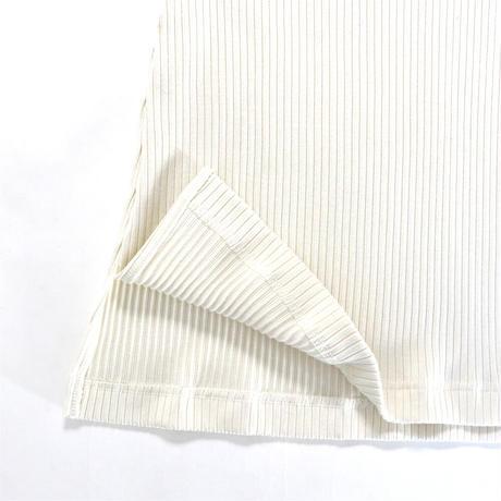 BLUEBIRD BOULEVARD Ribbed Cotton-blend Turtleneck Top /ブルーバード ブルバード  ブライトテレコタートルトップ