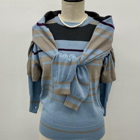 BLUEBIRD BOULEVARD Summer Knit Twin Set /ブルーバード ブルバード ニットアンサンブル(半袖ニット&カーディガン セット)