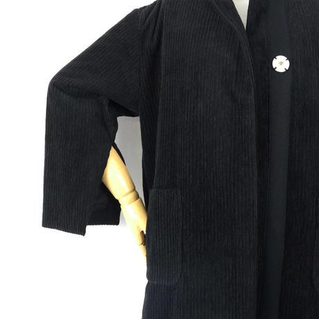 BLUEBIRD BOULEVARD Corduroy Collarless Coat/ブルーバード ブルバード ランダムコーデュロイコート(中綿入り)