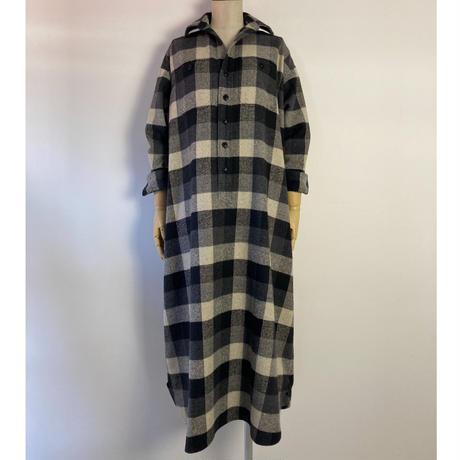 BLUEBIRD BOULEVARD Soft Flannel  Long Shirt Dress/ブルーバード ブルバード ブロックチェックソフトネルシャツドレス