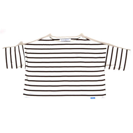 BLUEBIRD BOULEVARD Oversized Striped Pullover /ブルーバード ブルバード ボーダーワイドプルオーバー(半袖)