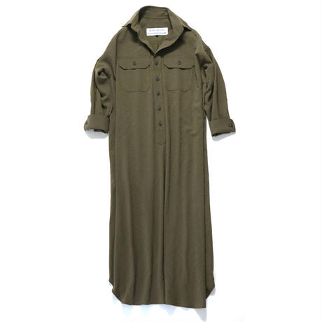 BLUEBIRD BOULEVARD Washed Twill Shirt Dress  /ブルーバード ブルバード ワッシャーツイル シャツドレス