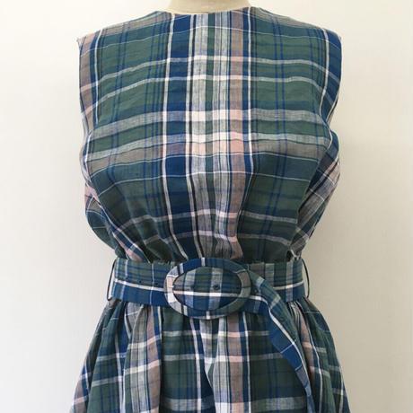 BLUEBIRD BOULEVARD  Linen Madras Maxi Dress  /ブルーバード ブルバード  マドラスチェックマキシドレス