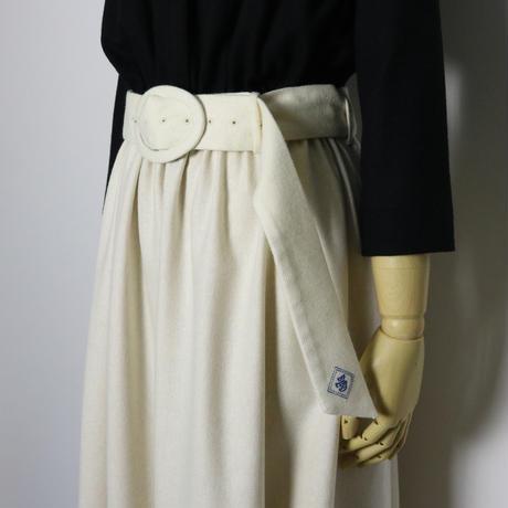 BLUEBIRD BOULEVARD   Wool  Maxi Dress /ブルーバード ブルバード バイカラーウールマキシドレス