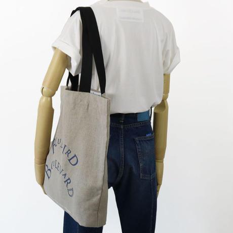BLUEBIRD BOULEVARD Linen Canvas  Reusable Shopping Bag/ブルーバード ブルバード リネンキャンバス エコトートバッグ