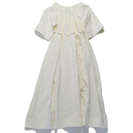 BLUEBIRD BOULEVARD Linen Resort Dress /ブルーバード ブルバード   ハードリンクルリネンリゾートドレス