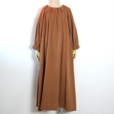 BLUEBIRD BOULEVARD Wool Soft Flannel Dress/ ブルーバード ブルバード ソフトラフフラノギャザードレス