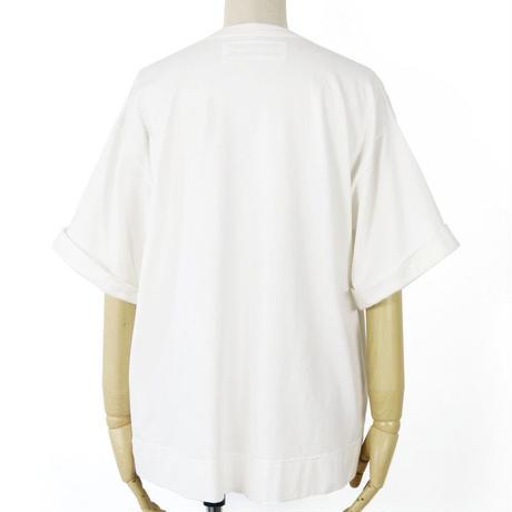 BLUEBIRD BOULEVARD Oversized Plain T-Shirt /ブルーバード ブルバード ライトウォッシュワイドポケT