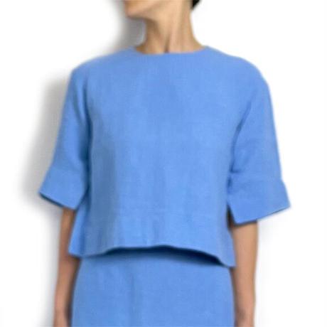 BLUEBIRD BOULEVARD Washed Linen Pullover /ブルーバード ブルバード  リネンプルオーバーブラウス