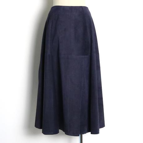 BLUEBIRD BOULEVARD Suede Leather A-Line Skirt/ブルーバード ブルバード ピッグスウェード サーキュラースカート