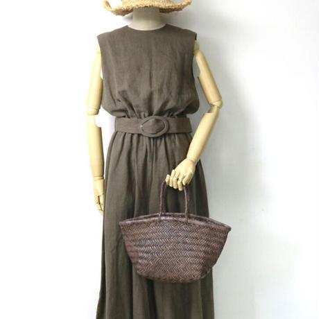 DRAGON   Woven Leather Bag(BAMBOO TRIPLE JUMP) /ドラゴン バッファローレザー メッシュトートバッグ