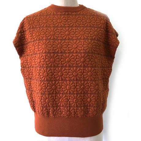 BLUEBIRD BOULEVARD Summer Knit Sweater/ブルーバード ブルバード ジャガードニットトップ