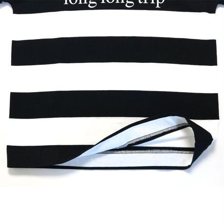 BLUEBIRD BOULEVARD Roll up Sleeve Tee shirt /ブルーバード ブルバード ロールアップスリーブTシャツ(ボーダー・ロゴ)