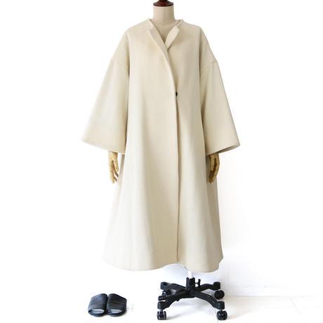 BLUEBIRD BOULEVARD Herringbone Wool A-Line Coat/ブルーバード ブルバード  ヘヴィヘリンボーンフレアシルエットコート